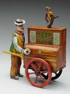 Lot # : 784 - German Distler Pete &The Monk Organ Grinder Toy.