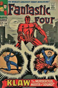 "digsyiscomics: "" Fantastic Four November written by Stan Lee, penciled by Jack Kirby "" Univers Marvel, Vintage Comic Books, Vintage Comics, Jack Kirby, Marvel Comic Books, Comic Books Art, Book Art, Marvel Art, Marvel Heroes"