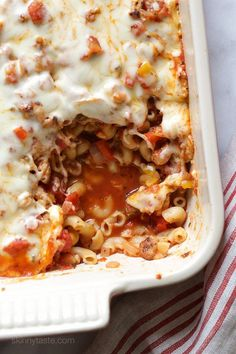 Chicken Sausage and Peppers Macaroni Casserole