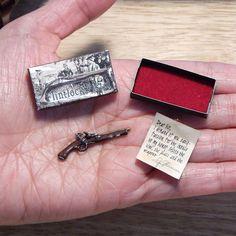 Dollhouse Miniature Flintlock Pistol Gun Revolver Duel Aged Box Letter Handmade #PenelopesWorkshop