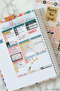 New year, new planner! And lots of new free printable planner stickers