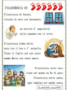 filastrocca-di-natale Christmas Time, Christmas Crafts, Italian Language, Learning Italian, New Years Eve Party, Education, Kids, Desktop, Winter Time