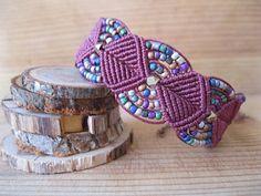 Maroon Gypsy Bracelet by peaceknots on Etsy