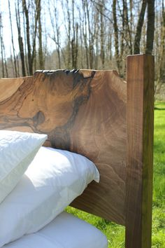 Live Edge Bed by MakersWoodworks on Etsy