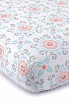 Image of Levtex Luisa Fitted Sheet - Crib