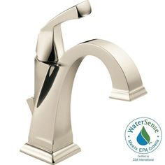 Buy the Delta Brilliance Polished Nickel Direct. Shop for the Delta Brilliance Polished Nickel Dryden Single Hole Bathroom Faucet with Diamond Seal Technology - Includes Pop-Up Drain Assembly and save. Brass Faucet, Lavatory Faucet, Bathroom Sink Faucets, Bathroom Fixtures, Kitchen Fixtures, Washroom, Delta Dryden, Single Handle Bathroom Faucet, Delta Faucets