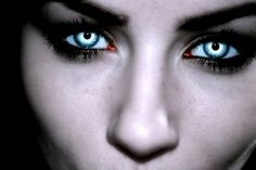 In her eyes supernatural witch, haunted trail ideas, vampires and werewolve Supernatural Witch, Haunted Trail Ideas, Special Effect Contact Lenses, Vampire Eyes, Legends And Myths, Vampires And Werewolves, In Her Eyes, Creepy Art, Scary