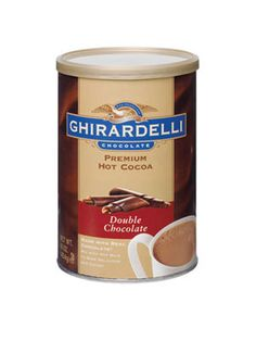 Experience moments of timeless pleasure with this premium double chocolate cocoa mix made with real chocolate. Luxuriously deep, intense, and lingering flavors of cocoa, chocolate, and vanilla. Found in J'Adore's Chocolate Obsession Gift Basket! Ghirardelli Chocolate, Mexican Hot Chocolate, Chocolate Brands, Hot Chocolate Mix, Chocolate Hazelnut, Chocolate Gifts, Chocolate Coffee, How To Make Chocolate, Chocolate Flavors