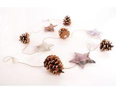 Guirnalda fácil para decorar nuestro árbol de Navidad. Drop Earrings, Cactus, Diy, Jewelry, Tela, Scandinavian Christmas, Sachets, Garlands, Creativity