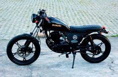 Kawasaki Cafe Racer, Suzuki Cafe Racer, Cafe Bike, Cafe Racer Bikes, Bobber Motorcycle, Motorcycles, Honda Rebel 250 Bobber, Gs500 Cafe Racer, Suzuki Gn 125