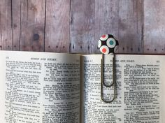 Bookmark,Book Mark,Book Clip,Paper Clip,Small Gift,Teacher Gift,Coworker Gift,Teal,Black,Brass Clip,Brass Bookmark,Large Clip Bookmark,