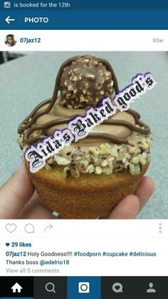 Ferrero Rocher cupcake.