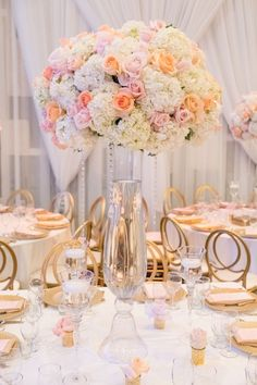 We have a bit of a soft spot for today's feature, a very glamorous law school graduation party. Coral Centerpieces, Graduation Party Centerpieces, Graduation Party Decor, Wedding Centerpieces, Indoor Wedding Receptions, Wedding Reception Decorations, Reception Ideas, Graduate School, Law School
