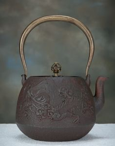 Japanese Tetsubin Cast Iron Pot Chagama Teapot | eBay