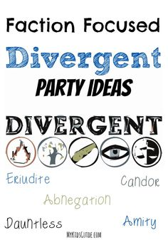 Looking for a cool party idea for teens? Check out our faction-focused Divergent party ideas and DIY party games! Which faction will your guests choose?