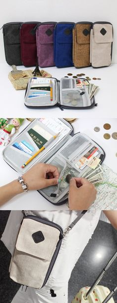 Travel is made easy with 12 awesome pockets and 6 earthy tones! This Smart Travel Pouch is definitely smart. It can fit all your vacation necessities and journey mementos, such as your credit cards, m