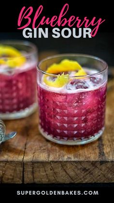 Easy Gin Cocktails, Easy Alcoholic Drinks, Cocktail Syrups, Sour Cocktail, Sweet Cocktails, Fun Drinks, Yummy Drinks, Beverages, Gin Drink Recipes