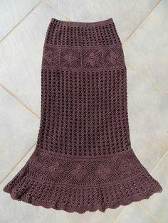 Crochet Pants, Crochet Bra, Crochet Skirts, Crochet Woman, Knit Skirt, Love Crochet, Crochet Clothes, Crochet Stitches, Square Skirt