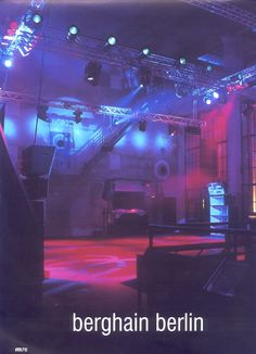 Clubs we love>>> Berghain / Panorama Bar Industrial glam.