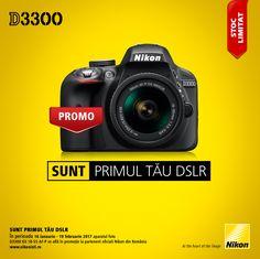 In perioada 12 decembrie 2016 - 19 februarie 2017 aparatul foto DSLR Nikon D3300 Kit AF-P 18-55mm se afla in promotie la partenerii oficiali Nikon