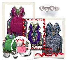 Bohemian Abaya Kaftan Dress by boho-chic-2 on Polyvore featuring Mark Cross