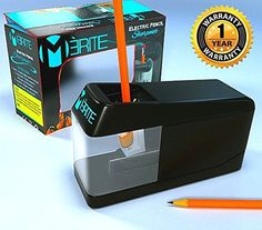 Premium Electric Mechanical Pencil Sharpener By Merite Long Lasting Heavy Duty And Light Weight