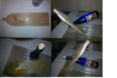 Wine bottle holder and cheese board made from pallet wood