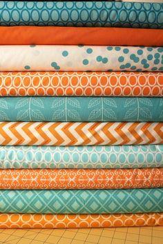 turquoise+and+orange+bedding | Fabric Ideas - Design Turquoise Aqua Orange Custom Baby ... | colors