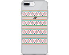 Tribal Pattern, iPhone Case, Cell Phone, Tech Case, Clear Case, iPhone 7 Case, iPhone 6 Case, Gift For Her, Aztec, Transparent Phone