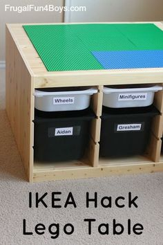Convert IKEA storage into a Lego table - this is awesome!