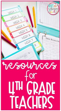My Favorite Resources for Fourth Grade Teachers