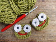 hannicraft: Crochet Frog Applique {free pattern}