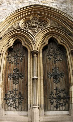 Pair of doors at the west end of the Nave, Christ Church Cathedral, Dublin, Ireland