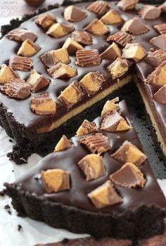Peanut Butter Desserts, Peanut Butter Chips, Vegan Desserts, Delicious Desserts, Plated Desserts, Yummy Treats, Sweet Treats, Tart Recipes, Sweet Recipes