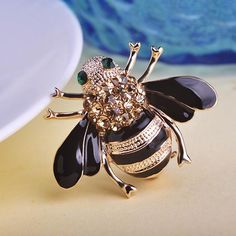 e39202cc5 Cute Yellow Bee Corsages Crystal Brooches Pin Jewelry. Woman FashionFashion  ...