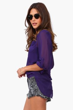So my style of top && in Purple! Oh la la