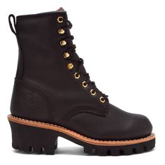 """Amazon.com: Chippewa Women's 8"""" Oiled Insulated Logger Boot Round Toe: Industrial And Construction Shoes: Clothing"""
