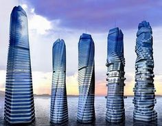 Rotating Tower. Dubai. 59 rotating floors  so each of the 200 apartments can get the best view