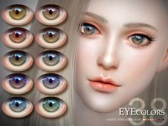 The Sims Resource: Eyecolor 38 by S-Club • Sims 4 Downloads