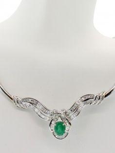 Emeral & Diamond Necklace