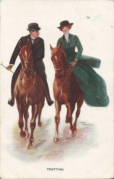 Trab durch Horsfall  Jahrgang der 1910er Jahre von AllHorseVintage, $7.50