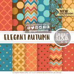 https://www.etsy.com/mx/listing/612110364/fondos-otono-rosa-nina-morado-violeta #autumn #fall #Thanksgiving #october #pumpkin #orange #patterns #damask #moroccan #fondos