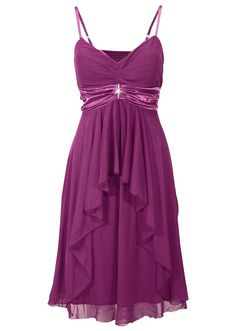 Glamouröses Abendkleid mit abnehmbarer Brosche - lila