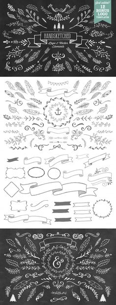 HandSketched Vector Elements Pack by Nicky Laatz