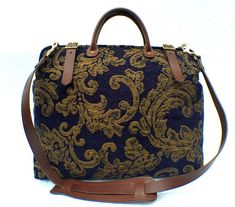 The Regal Blue Fabric 'Carpet' Weekender travel Bag