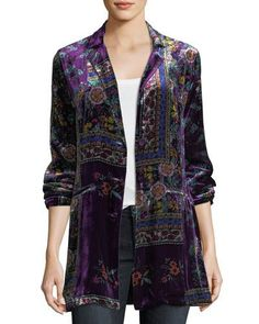 JOHNNY WAS JULIAN PRINTED VELVET BLAZER. #johnnywas #cloth #