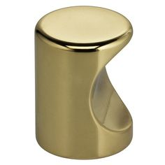 "Cabinet Hardware Knobs kt910 Polished Brass Pull 1-3//16/"" Diameter"