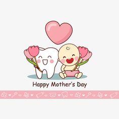 Desenhos animados com OS dentes do bebê, Cartoon, OS Dentes, O Dentista PNG e Vector