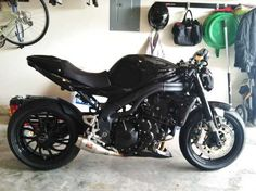 2009 Triumph Speed Triple 1050 small Comp Werkes shorty exhaust #Pashnit