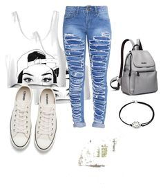 """my sister's outfit"" by ama-liggett ❤ liked on Polyvore featuring Converse and Alex and Ani"